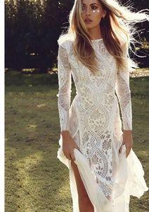 White Lace Boho Dress